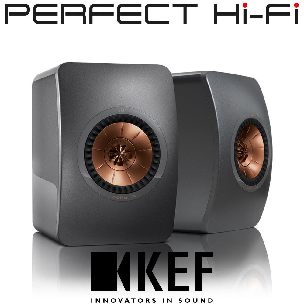 Kef LS50 Monitor Speakers (Dark Titanium)