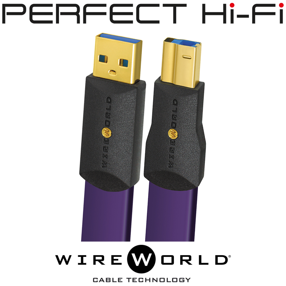 Wireworld Ultraviolet 8 USB 3.0 A to Micro Audio Cable 1 Meter