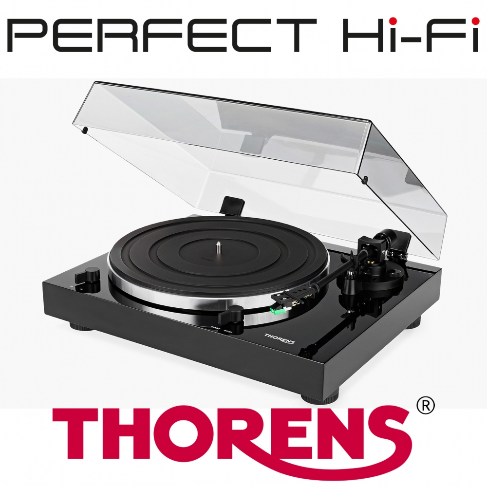 Thorens TD202 Manual Turntable With Phono Stage High Gloss Black