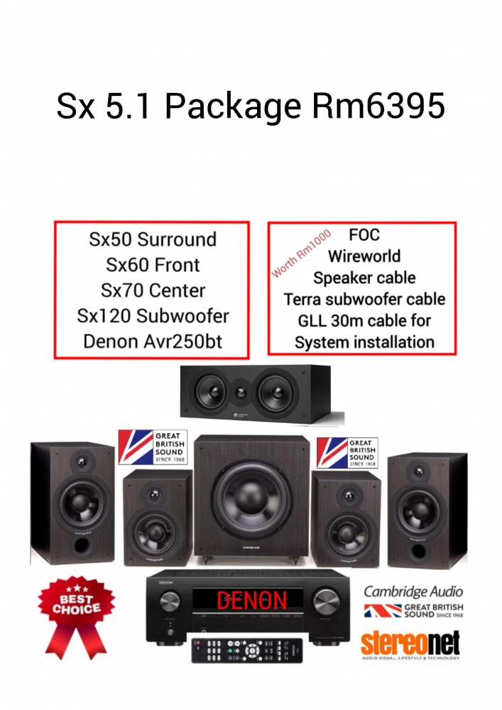 Cambridge Audio Sx-Series 5.1 Home Theather Package