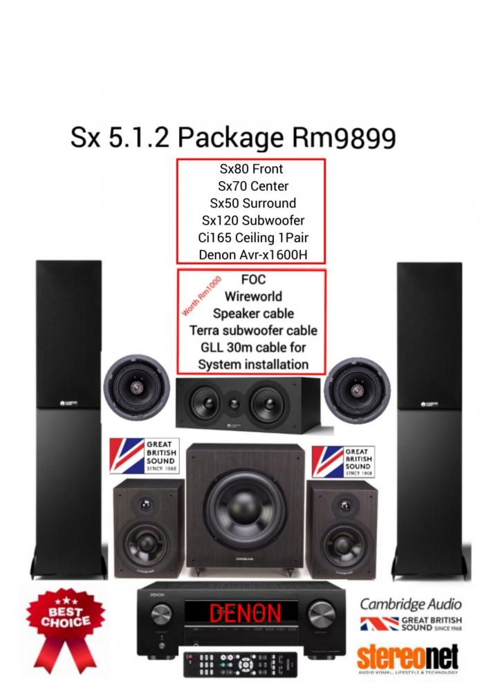 Cambridge Audio Sx 5.1.2 Package