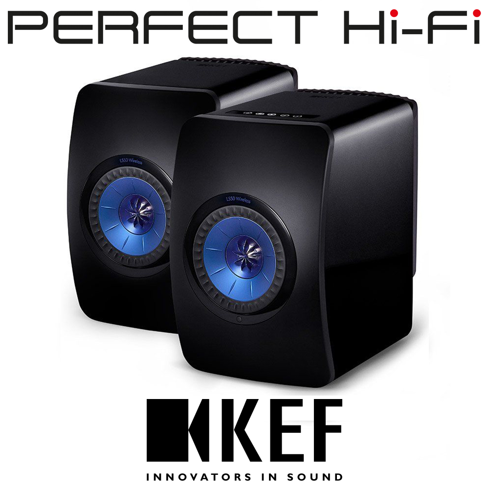 KEF LS50 Wireless Active Speakers Spotify And Tidal Ready Black