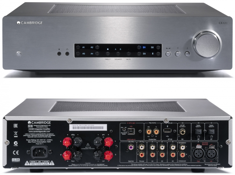 Cambridge Audio CXA80 80 Watts Integrated Amplifier